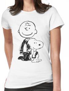 Peanuts meets Star Wars Womens Fitted T-Shirt
