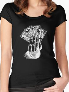 Magic Card Trick Women's Fitted Scoop T-Shirt