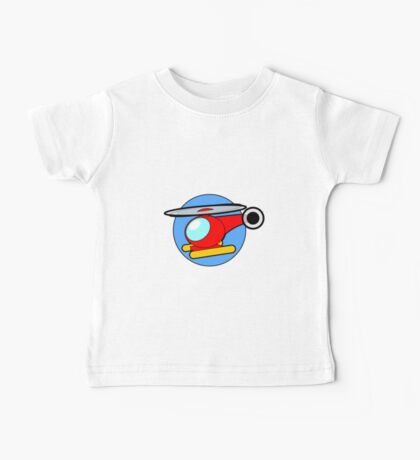 Cartoon Helicopter Baby Tee
