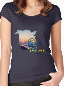 East Coast?  Pashhhaw it's the BEST COAST! Women's Fitted Scoop T-Shirt
