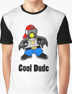 Cool Penguin Rapper Graphic T-Shirt