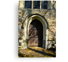 The Oldest Church Door in the UK. St. Botolph Church, Hadstock, Essex  Canvas Print