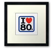 I Heart 80s Framed Print