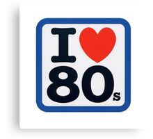 I Heart 80s Canvas Print