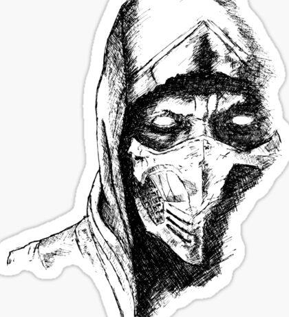Scorpion Mortal Kombat X Sticker