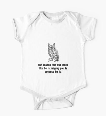 Owl Judge You One Piece - Short Sleeve