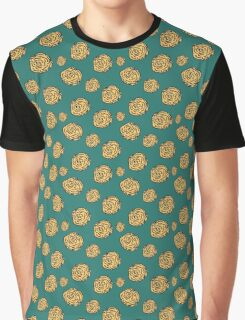 Green Floral Repeating Pattern Graphic T-Shirt