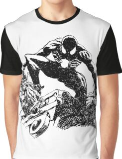 Black Spider-Man (Pen) Graphic T-Shirt