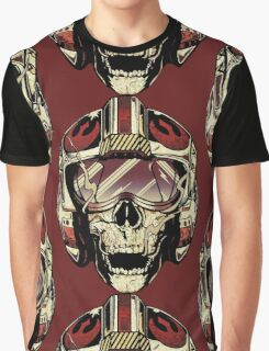 HD Xwing fighter pilot Skull Sticker Graphic T-Shirt
