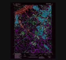 USGS TOPO Map New Jersey NJ Woodbury 255009 1967 24000 Inverted Unisex T-Shirt