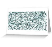 Infinite road green  Greeting Card
