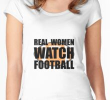 Real Women Football Women's Fitted Scoop T-Shirt