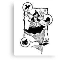 Mermaid Witchcraft Canvas Print