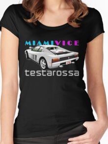 Ferrari Testarossa from Miami Vice Women's Fitted Scoop T-Shirt