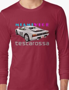Ferrari Testarossa from Miami Vice Long Sleeve T-Shirt
