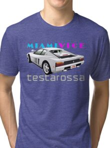 Ferrari Testarossa from Miami Vice Tri-blend T-Shirt