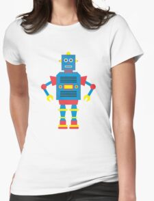 a humanoid Womens Fitted T-Shirt