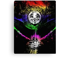 crow sun shaman Canvas Print