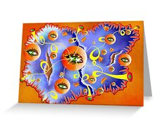 Fioloniceto V2 - abstract digital artwork Greeting Card