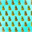 Pineapple Blue Pattern by daphsam