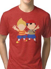 Ness & Lucas (Red) - Super Smash Bros. Tri-blend T-Shirt