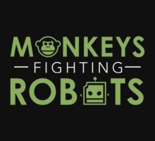 Monkeys Fighting Robots Original  Kids Tee
