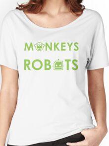 Monkeys Fighting Robots Original  Women's Relaxed Fit T-Shirt