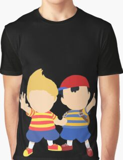 Ness & Lucas (Black) - Super Smash Bros. [Requested] Graphic T-Shirt