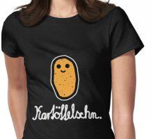 Kartöffelschn (Weiß) Womens Fitted T-Shirt