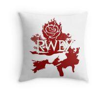 RWBY red rose Throw Pillow