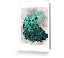 Fluctus Greeting Card