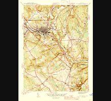 USGS TOPO Map Connecticut CT Willimantic 461120 1945 31680 Unisex T-Shirt
