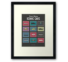 Iconic Cars - Collection Framed Print