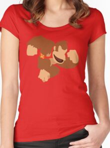 Donkey Kong - Super Smash Bros. Women's Fitted Scoop T-Shirt