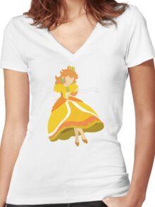 Peach (Daisy) - Super Smash Bros. Women's Fitted V-Neck T-Shirt
