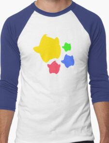 Lumas (Yellow, Red, Blue, Green) Men's Baseball ¾ T-Shirt