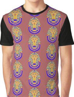 Geometric Tutankhamun in colour Graphic T-Shirt