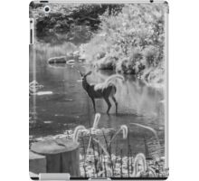 Deer Pose black and White iPad Case/Skin