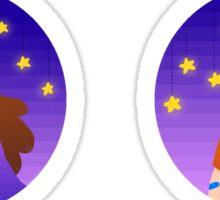 stellar siblings Sticker