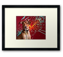 Isabella and her String Theory Framed Print