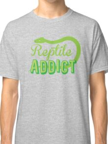 Reptile Addict (with snake) Classic T-Shirt