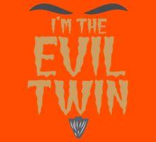 I'm the EVIL TWIN funny Halloween costume Kids Tee