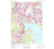 USGS TOPO Map Rhode Island RI East Greenwich 353283 1957 24000 Photographic Print