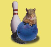 Bowling Squirrel Kids Tee