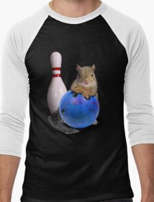 Bowling Squirrel Men's Baseball ¾ T-Shirt