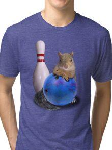 Bowling Squirrel Tri-blend T-Shirt