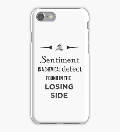 Sherlock Holmes sentiment quote [black and white] iPhone Case/Skin