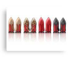 My Louboutin Collection : Black Spiked Leopard Red Nude Canvas Print