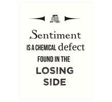 Sherlock Holmes sentiment quote [black and white] Art Print