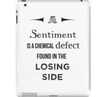 Sherlock Holmes sentiment quote [black and white] iPad Case/Skin